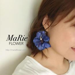 Flower accessory 【洋蘭 dark blue】ピアス/イヤリング