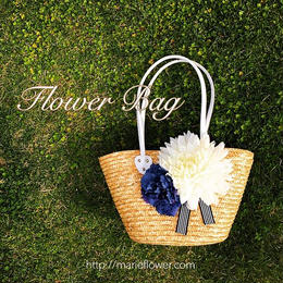 肩掛け Flower Bag【White Daria】