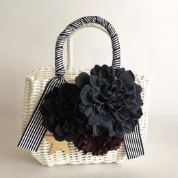Flower Bag White M     【Denimd Dahlia 】