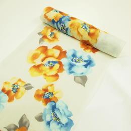 エレガントな花柄の浴衣1