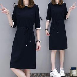 ワンピース❤スポーティな肩のラインが素敵な韓国ファッションワンピ hdfks961296