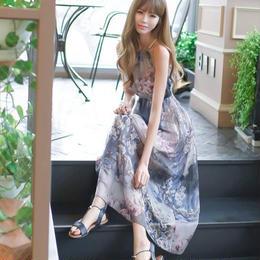 ワンピース❤花柄ホルターネックで、リゾートに最適なさわやか上品ワンピ! hdfks961123