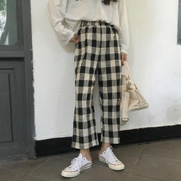 チェックパンツ❤9分丈、すんごく可愛い韓国ファッションチェック柄! hdfks961236