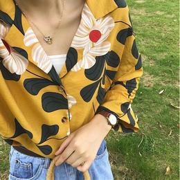 ブラウス❤トップス 花柄可愛い9分丈のシャツ! hdfks961672