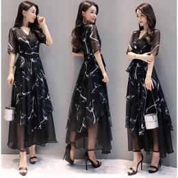 ワンピース❤カシュクールでセレブチックな大人韓国ドレス! hdfks961552