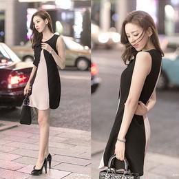 ワンピース❤韓国ドレス フェミニンガーリーなリボン可愛いミニワンピ hdfks961931