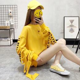 トレーナー❤袖コンシャスが個性的!ロゴが可愛い韓国オルチャントップス hdfks961677