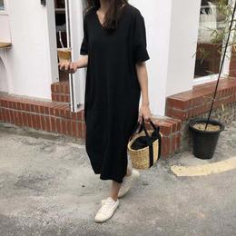 ワンピース❤ダボダボ韓国ファッションシンプルロングワンピ! hdfks961531