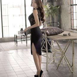 ワンピース❤韓国ドレス バックレースがとっても可愛いセクシーワンピ hdfks962080