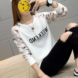 トップス❤腕の透けシースルー柄がイカす長袖Tシャツ! hdfks961060