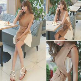 ドレス❤ファー小物と合わせると華やかになってパーティーにでも♪ミニ丈ドレス hdfks960893