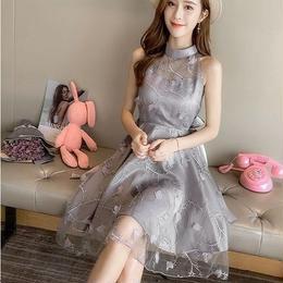 ワンピース❤韓国ドレス 胸元シースルーがとっても可愛いお姫様プリンセスドレス hdfks962093