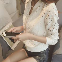 ブラウスアウター❤薄手で肩が透け感が大人の使えるシャツのようなアウター♪ hdfks960052