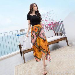 セットアップ❤夏にぴったり気品あふれるトップスとスカートのセット! hdfks961330