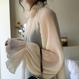 トップス❤ブラウス 韓国ファッションうっすら、透け感シースルーなおしゃれ感のトップス hdfks961146