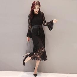 ワンピース❤韓国ドレス 総レースの大人感あるお呼ばれワンピ hdfks961866
