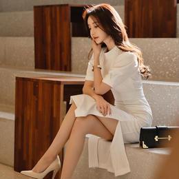 ワンピース❤ドレス ホワイトで大人純白のワンピ hdfks961077