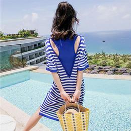 ワンピース❤夏のリゾートボーダーワンピ!これ着たあなたをビーチが待っている! hdfks961500