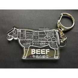 必要なのか?シリーズ 牛肉の部位 キーホルダー