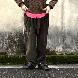 """Sunny side up(サニーサイドアップ)/Unisex Remake 2 For 1 """"Codyroy Trousers """"brown size1"""
