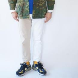 Sunny side up(サニーサイドアップ)/ ユーズドリメイク 2for1 デニムクロップドパンツ(WHITE)サイズM(2)