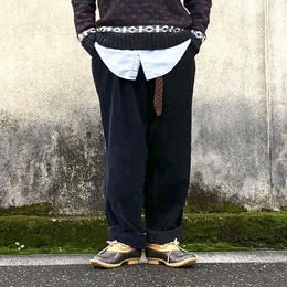 """Sunny side up(サニーサイドアップ)/Unisex Remake 2 For 1 """"Codyroy Trousers """"Black size2"""