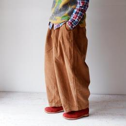HARVESTY (ハーベスティ)/CORDUROY CIRCUS PANTS(コーデュロイサーカスパンツ) BROWN