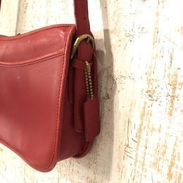 coach shoulder bag red