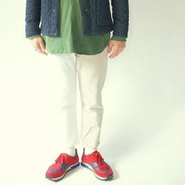 Sunny side up(サニーサイドアップ)/ ユーズドリメイク 2for1 デニムクロップドパンツ(WHITE)サイズM(1)