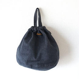 NAPRON(ナプロン)/DENIM PATIENTS BAG black