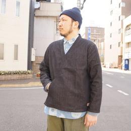 Nasngwam (ナスングワム)/GARNET SHIRT  ガーネットシャツ black
