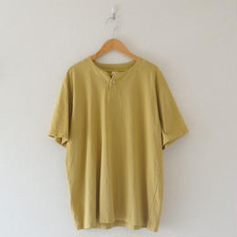 Jackman(ジャックマン) / Henleyneck T-shirt Wall Yellow