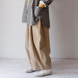 HARVESTY (ハーベスティ)/CORDUROY CIRCUS PANTS(コーデュロイサーカスパンツ) BEIGE