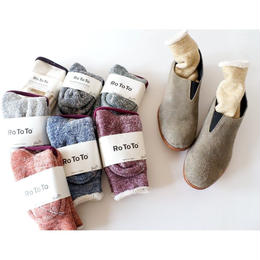 "RoToTo(ロトト)/ DOUBLE FACE SOCKS ""merino wool × organic cotton"""