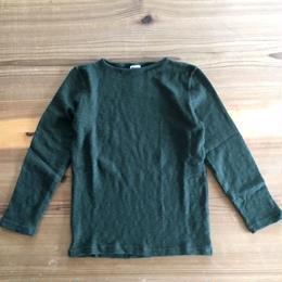 Tieasy(ティージー)/オーガニック ボートネック バスクシャツ Forest Green