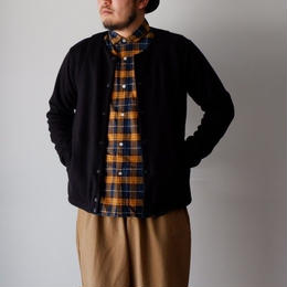 Jackman(ジャックマン) / Jersey Collarless Jacket Dark Navy