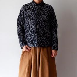 TIGRE BROCANTE(ティグルブロカンテ)/ジャガード雲スタンドカラーシャツジャケット