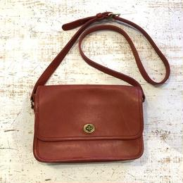 old coach shoulder bag red