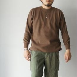 RoToTo(ロトト)/COTTON THERMAL L/S KNIT カーキブラウン