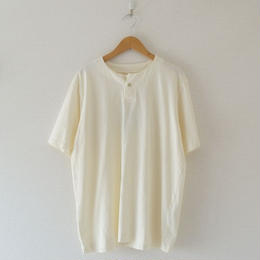 Jackman(ジャックマン) / Henleyneck T-shirt ivory