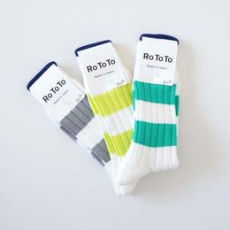 RoToTo(ロトト)/WIDE BORDER RIB SOCKS