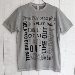Jackman(ジャックマン) / wblend pigment Print T-shirt jm5795 silver