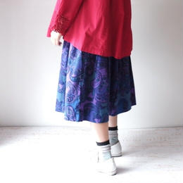 TIGRE BROCANTE(ティグルブロカンテ)/ペイズリーネルポケットフィセルスカート ブルー