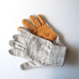 NEWBERRY KNITTING (ニューベリー ニッティング)/Deerskin Plam Wool Glove traditional gray