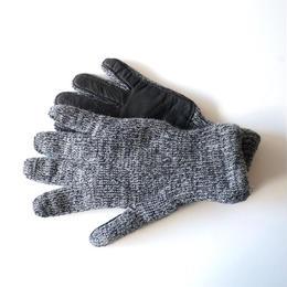 NEWBERRY KNITTING (ニューベリー ニッティング)/Deerskin Plam Wool Glove chacoal