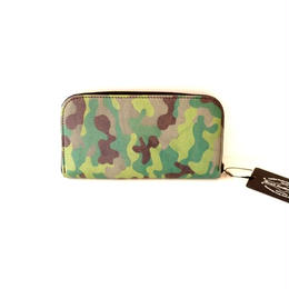 React Leather Works(リアクト レザー ワークス)/Camouflage Round Fastener Long Wallet