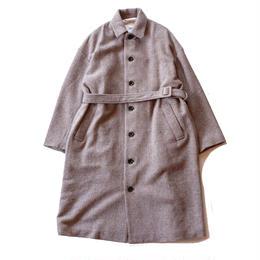 UNIVERSAL TISSU (ユニバーサルティシュ)/wool tweed trench coat/ベージュ