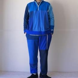TIGRE BROCANTE(ティグルブロカンテ)/リメイク EUROジャージパンツ ブルー(M)