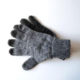 NEWBERRY KNITTING (ニューベリー ニッティング)/Newteck Lined Ragg Wool Glove  chacoal