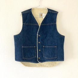 carhartt (カーハート)denim boa vest used/USA古着